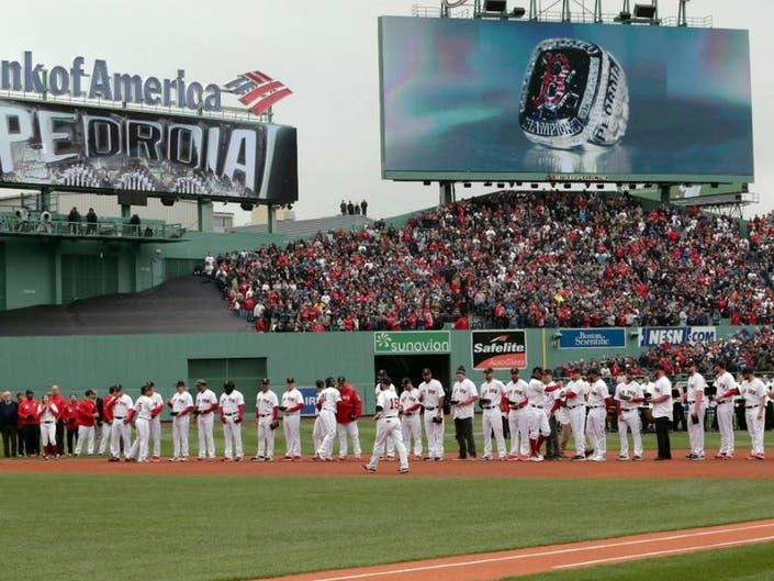 984b39dcdb9e95 The Boston Red Sox are awarded their 2018 World Series rings during a  ceremony before the