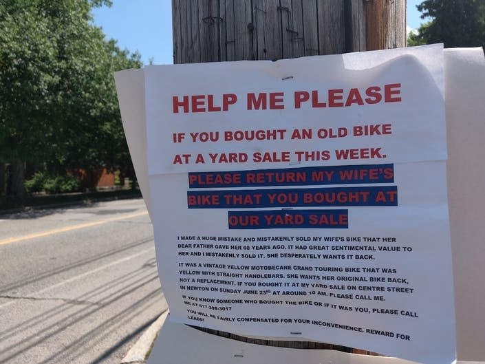 Help This Desperate Newton Man Get His Wifes Bike Back: PatchPM