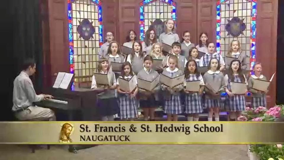 Saint Francis-St  Hedwig School Choir Appears of TV