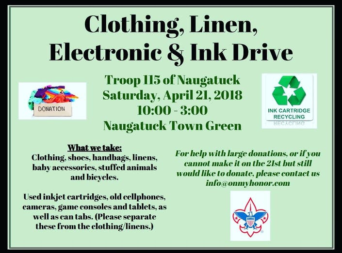 Clothing Drive to Benefit Boy Scout Troop 115 of Naugatuck