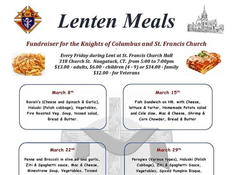 Lenten Meals at St. Francis of Assisi Church Continue