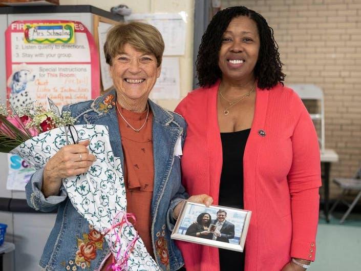 CT Teacher Of The Year Visits Naugatuck To Thank Grade 5 Teacher