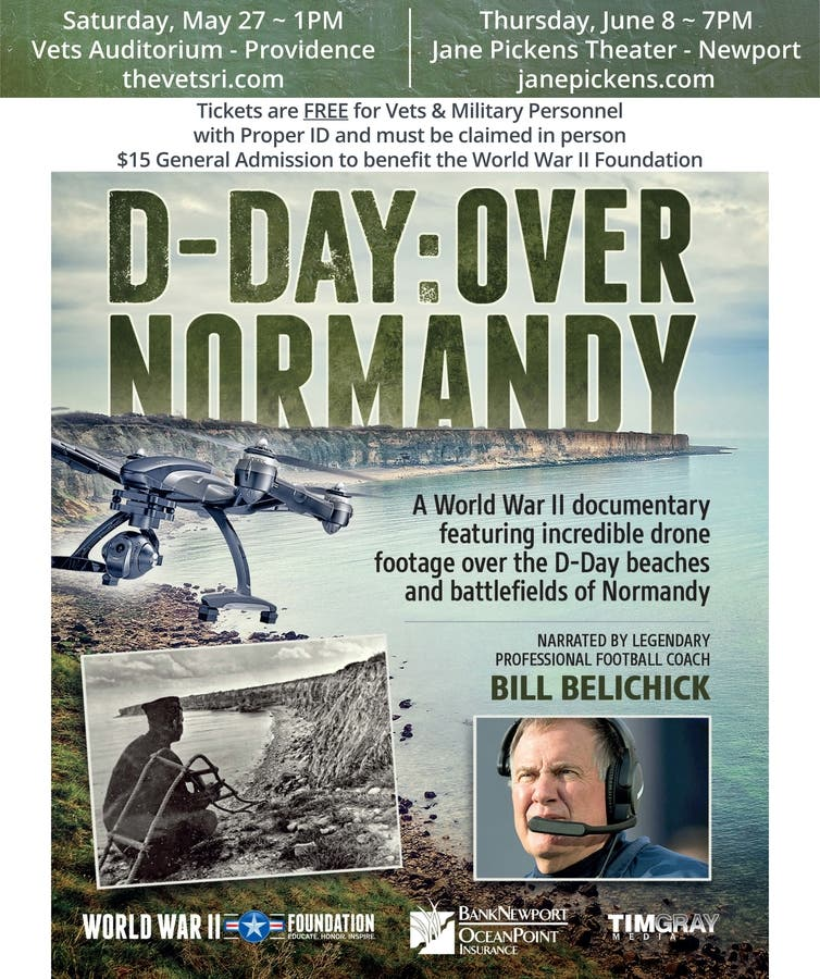 Bill Belichick Narrated D-Day: Over Normandy Film World Premiere May