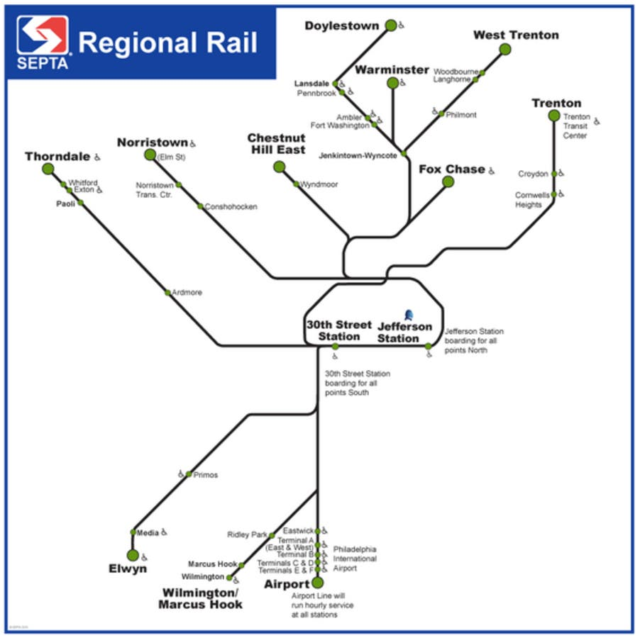 All SEPTA Regional Rail Tickets Sold Out For Thursday ... on uta rail map, bart rail map, metro station rail map, long island rail map, wmata rail map, philly rail map, metro transit rail map, bnsf rail map, chicago transit authority rail map, mbta rail map, seattle rail map, tokyo rail map, sounder rail map, muni rail map, metra rail map, sound transit rail map, madrid metro rail map, philadelphia commuter rail map, metrolink rail map, translink rail map,