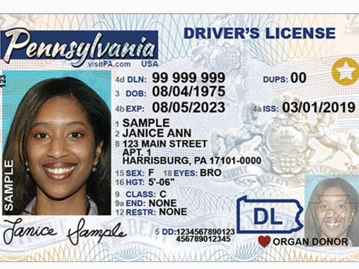 request new drivers license pa