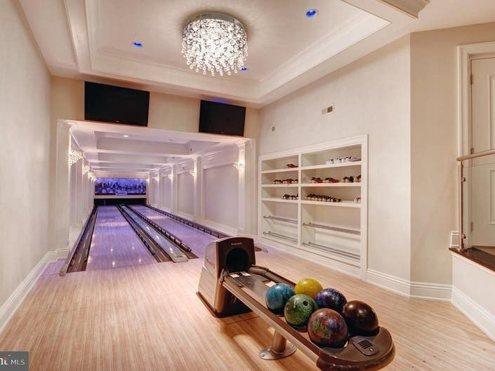 See The $7M Home With A Bowling Alley Just Listed In Bucks Co.