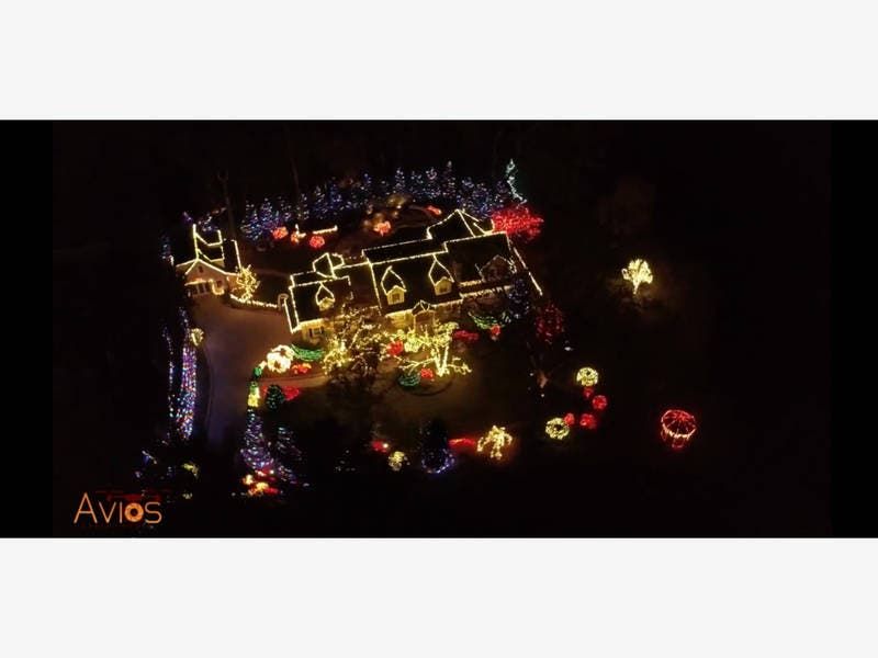 watch flyover of wyckoff mans 180000 christmas lights display