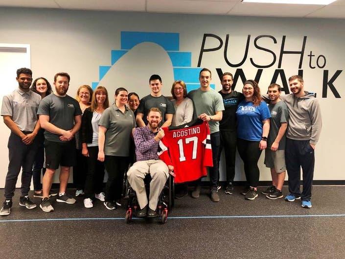 NJ Devils Kenny Agostino Visits Oakland Rehab Facility