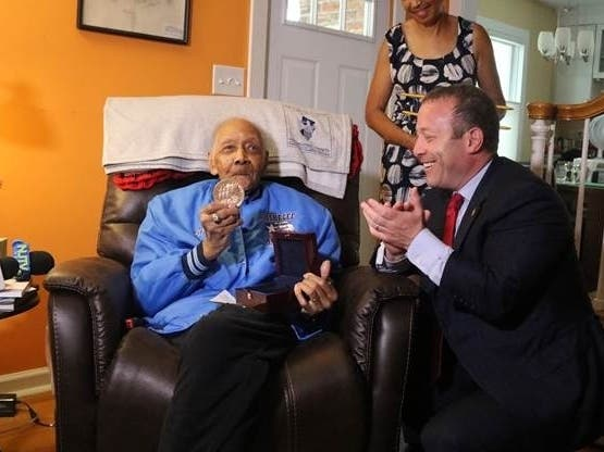 100-Yr.-Old Bergen Tuskegee Airman Gets WWII Service Medal
