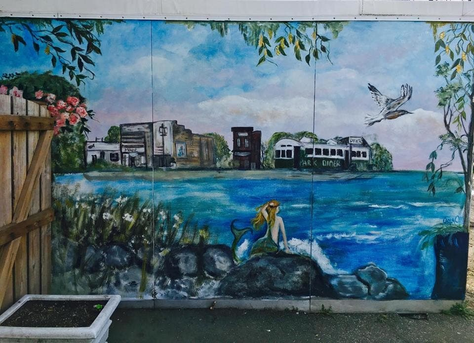 It Takes Village To Paint Mural Sharon >> Restaurant Owner Artist Beautify Greenport North Fork Ny Patch