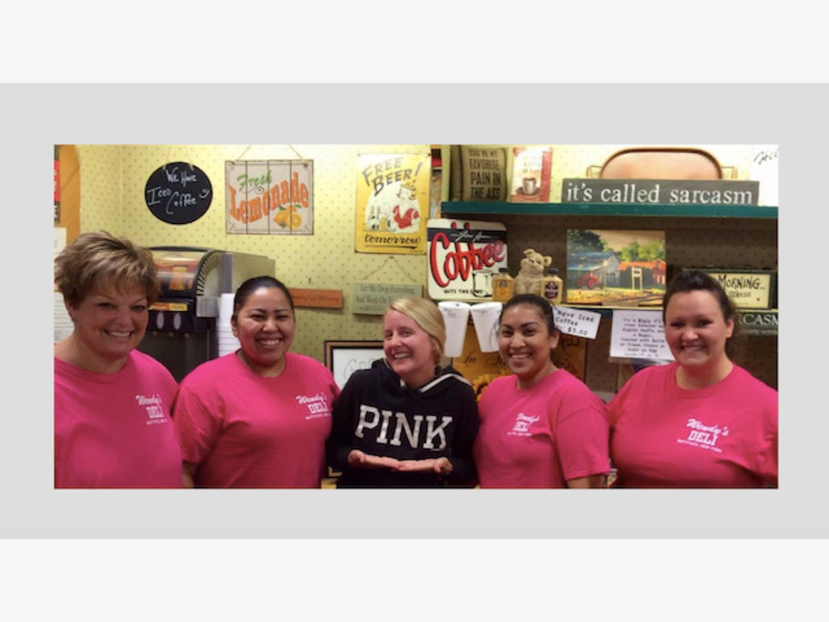 Wendy's Deli Fundraises For Breast Cancer Awareness   North Fork, NY