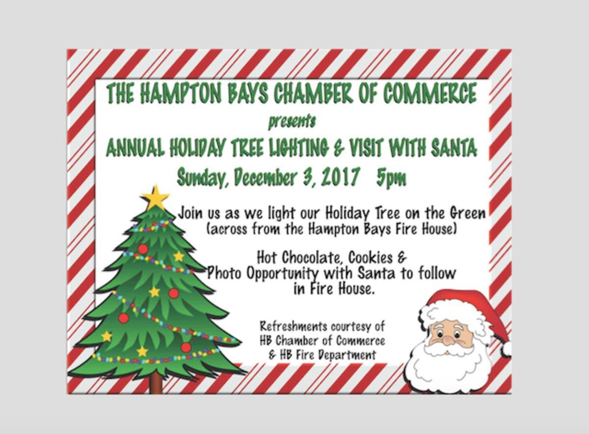 Annual Tree Lighting Santa Visit In Hampton Bays