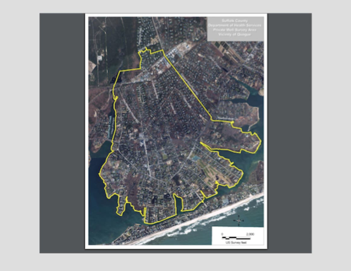 Map Of Quogue New York.Testing For Water Quality Contaminants In East Quogue Quogue