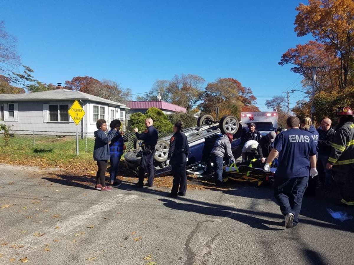 Rollover Crash In Mastic Beach Sunday: Police | Shirley, NY