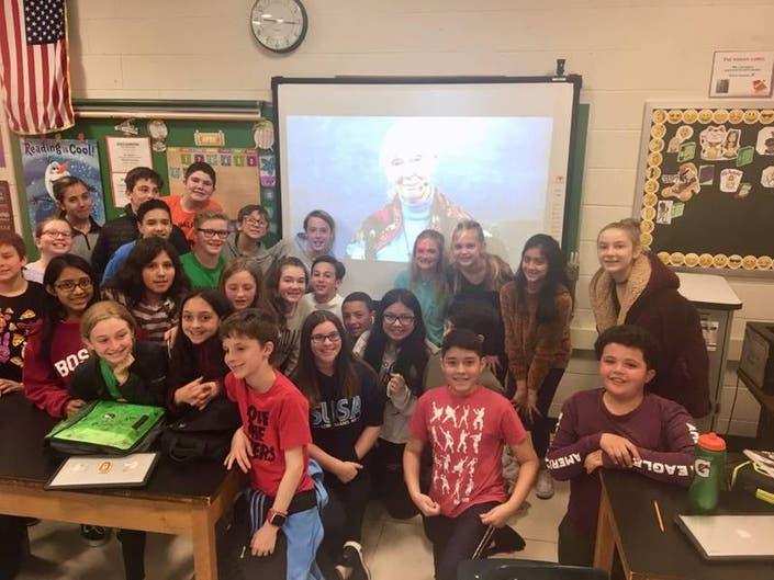 Students Meet Famed Anthropologist Jane Goodall Over Skype