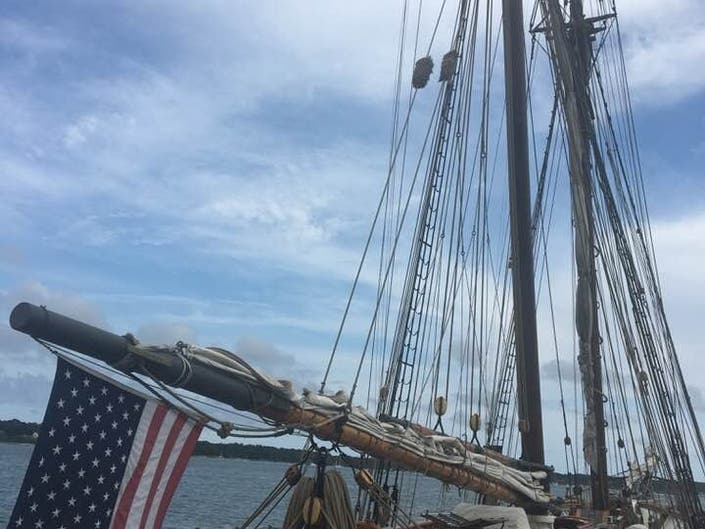 Tall Ship Amistad Docks In Greenport