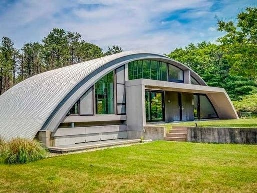 Iconic Arc House On Block For A Song In Hamptons