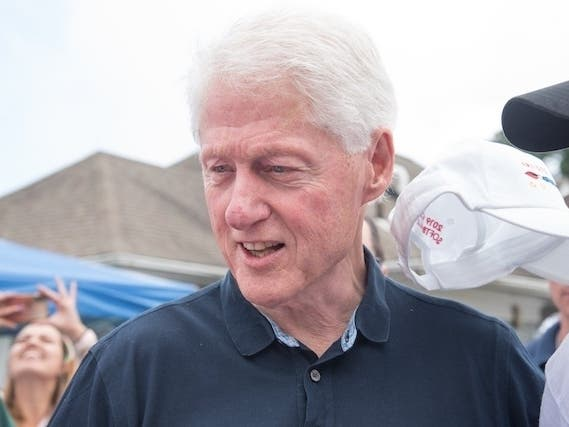 Bill Clinton Surprise Guest At Artists & Writers Softball Game