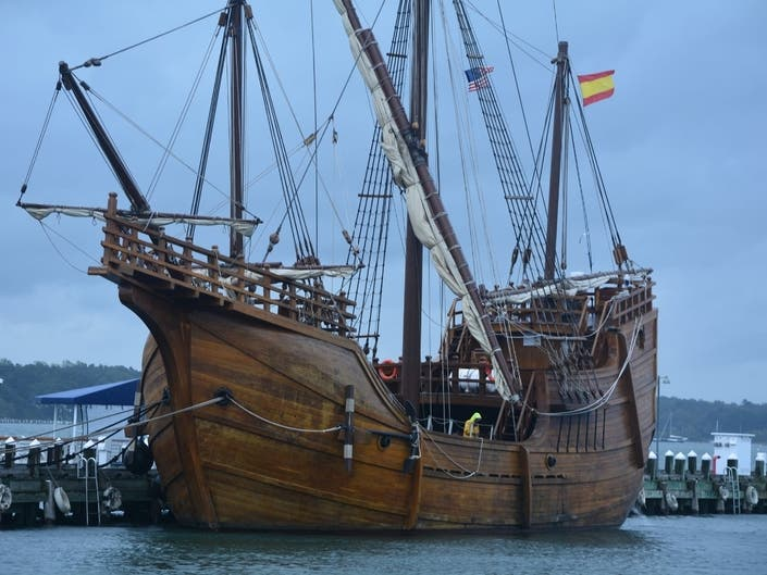 Replica Of Columbus Historic Santa María Sails Into Greenport