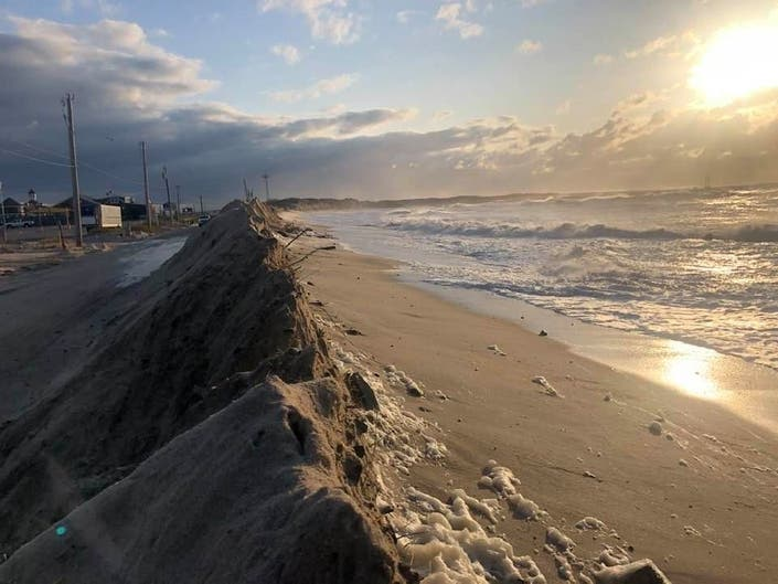 Storm-Socked Dune Road Unscathed Despite Bomb Cyclone NorEaster