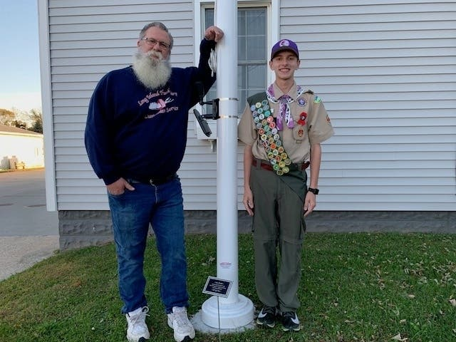 Son, Boy Scout Team Up To Honor World War II Vets Memory