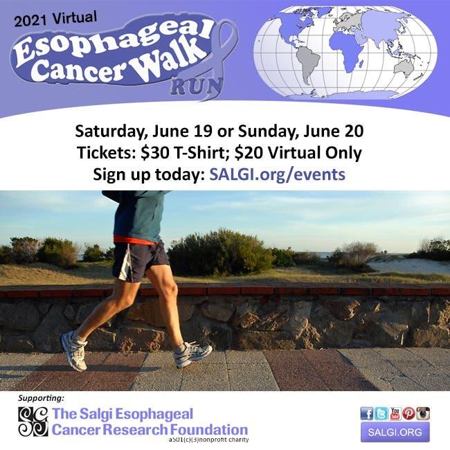 Middletown, CT: Virtual Esophageal Cancer Walk/Run