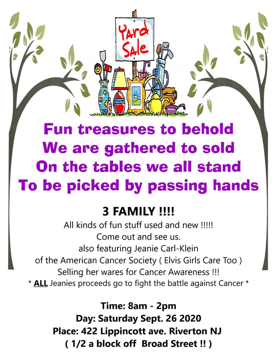 Great time of year for a Yard Sale !!! :)