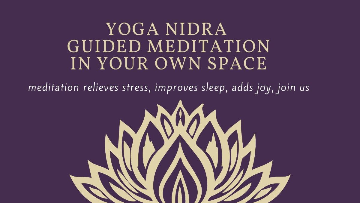 Aug 28 Live Zoom Yoga Nidra Guided Meditation Pinellas Beaches Fl Patch