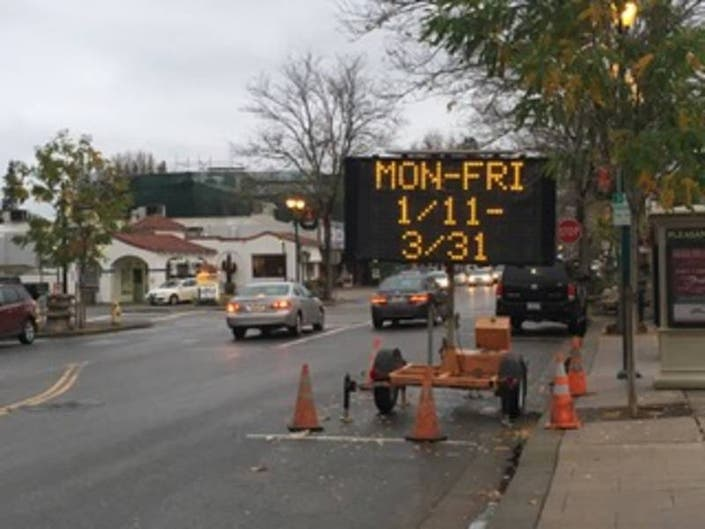 Water Main Replacement Work Will Delay Pleasanton Drivers