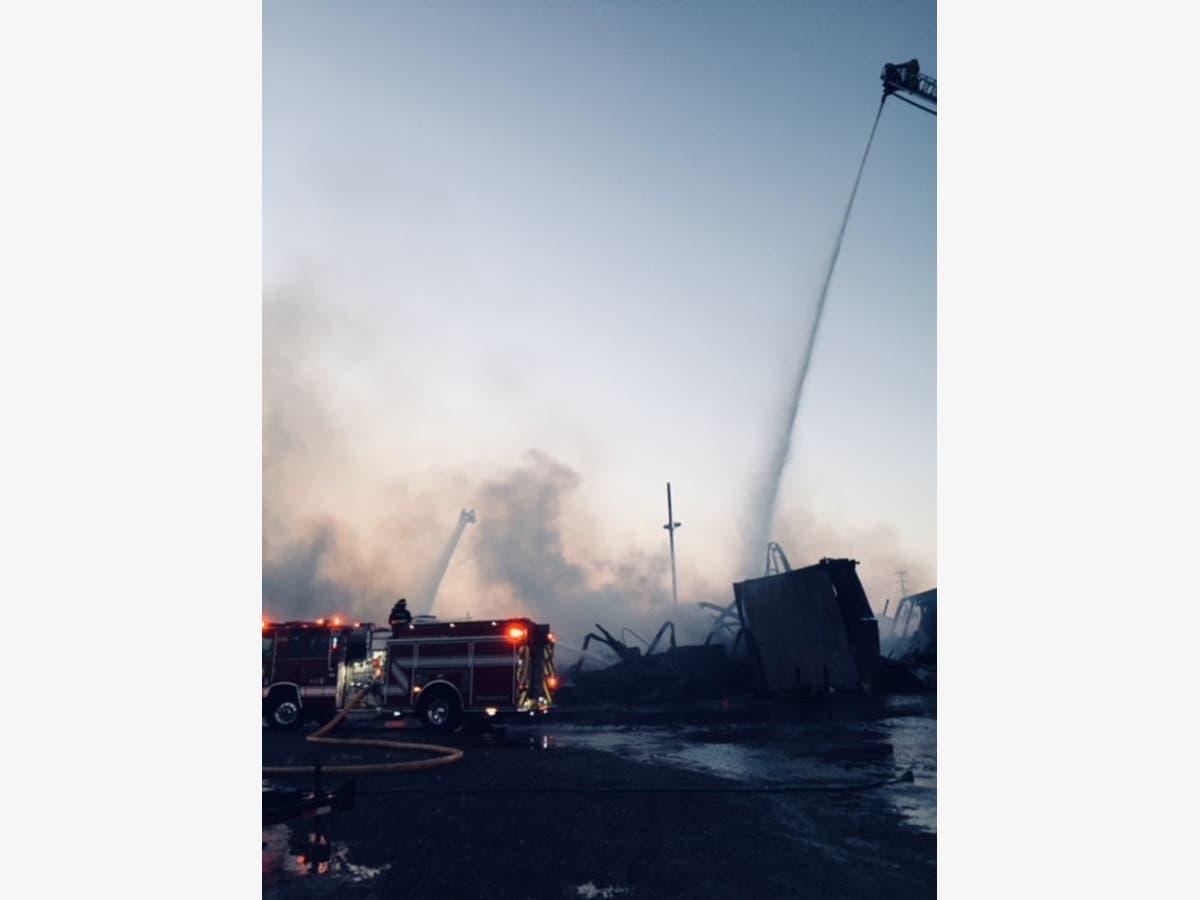 Pleasanton Building Collapses During Massive Commercial Fire