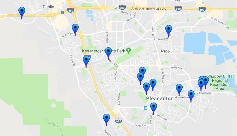 Halloween Sex-Offender Safety Map: Pleasanton 2018 | Pleasanton, CA