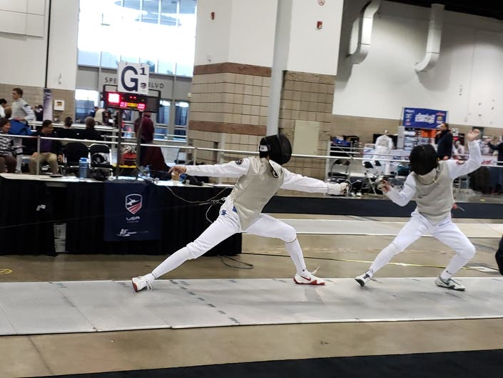 MVHS Teen Competes In Junior Olympic Fencing Championships