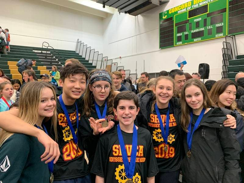 SRVCA Students Win Odyssey Of The Mind Regionals