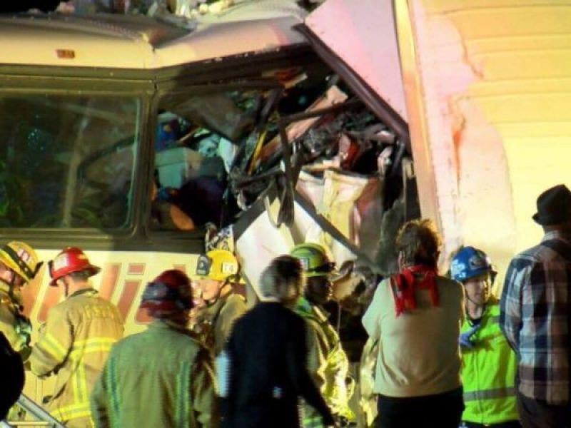 California Tour Bus Crash 13 Victims Killed Near Palm