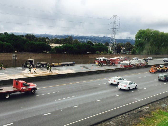 UPDATED: Highway 92 All Clear Following Big Rig Wreck | San
