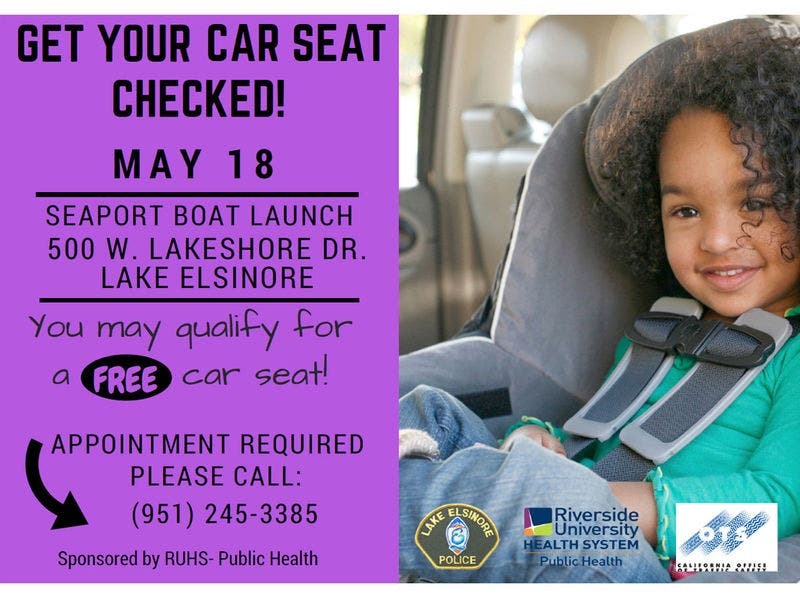 Free Car Seats And Inspections Again Coming To Lake Elsinore