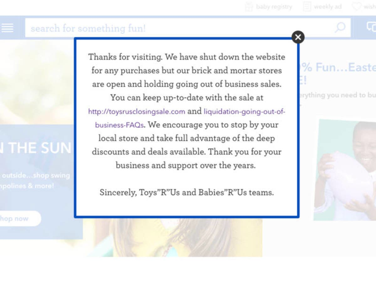 Toys R Us Shuts Down Websites | Redwood City, CA Patch