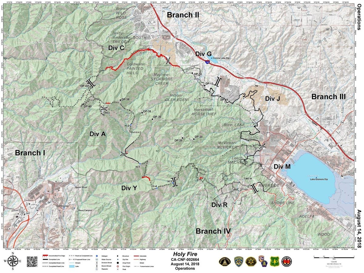 Ortega Highway Reopens More Evacs Lifted Related To Holy Fire
