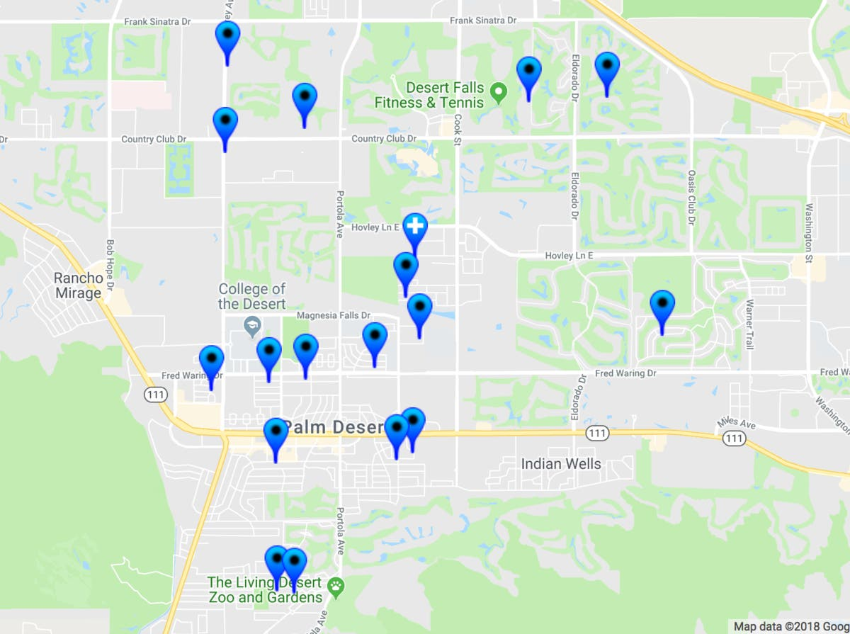 Rancho Mirage Zip Code Map.30 Sex Offenders In Palm Desert 2018 Halloween Safety Map Palm