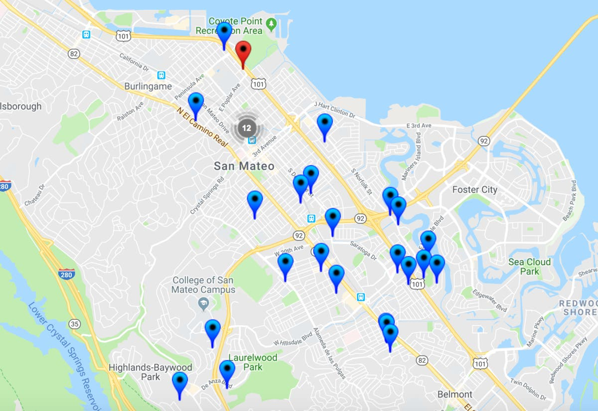 54 Offenders In San Mateo: 2018 Halloween Safety Map ... on belmont ca map, san lorenzo valley ca map, seascape ca map, sawyers bar ca map, hacienda ca map, fort tejon ca map, n hollywood ca map, pasadena ca map, fort yuma ca map, lake ca map, tucson ca map, roseville ca map, los altos ca map, puente hills ca map, rio del mar ca map, chicago ca map, solano beach ca map, fresno ca map, skyline college ca map, palo alto ca map,