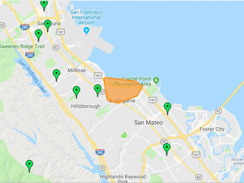 Power Outages Continue In Burlingame Hillsborough Areas
