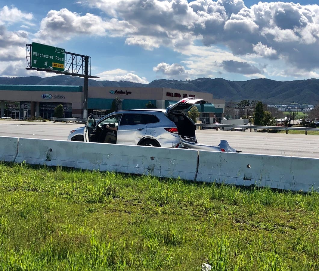 Freeway Chase Ends In Temecula With Spike Strip, PIT Maneuver