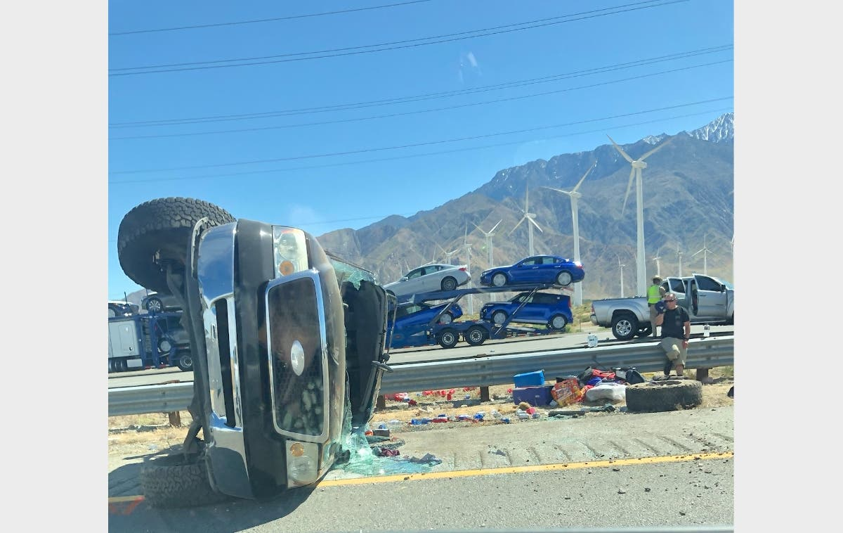 Major Crash Reported On I-10 Near Whitewater | Banning, CA Patch