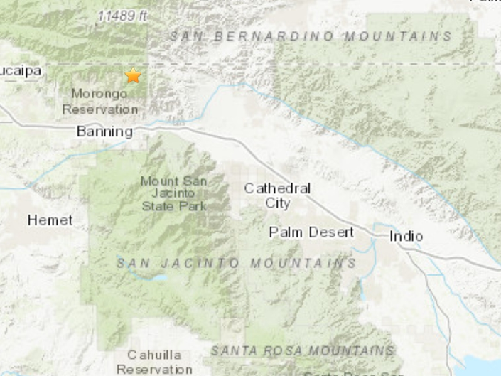 Earthquake Reported Near Banning, Beaumont
