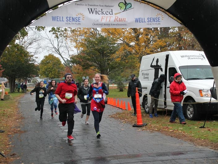 Runners/Walkers return to participate in the 8th Annual Wicked FIT Run 5K in Concord