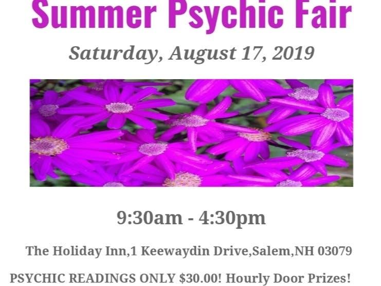 Aug 17 | Summer Psychic Fair Salem, NH | Salem, NH Patch