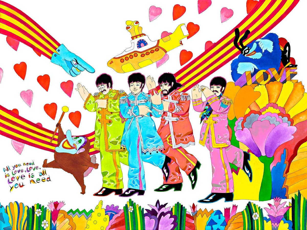 Oct 2 Ron Campbell The Beatles Cartoon Art Show Roswell Ga Patch