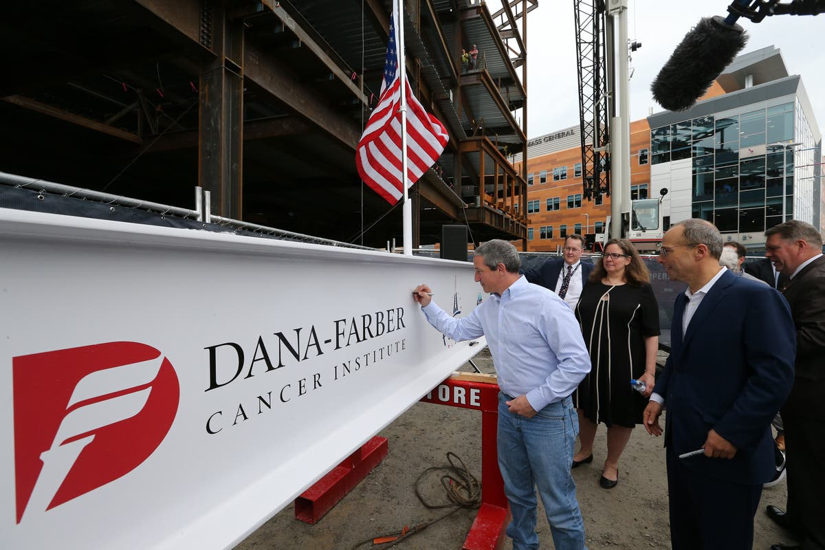 Topping Off Ceremony Held For New Patriot Place Medical