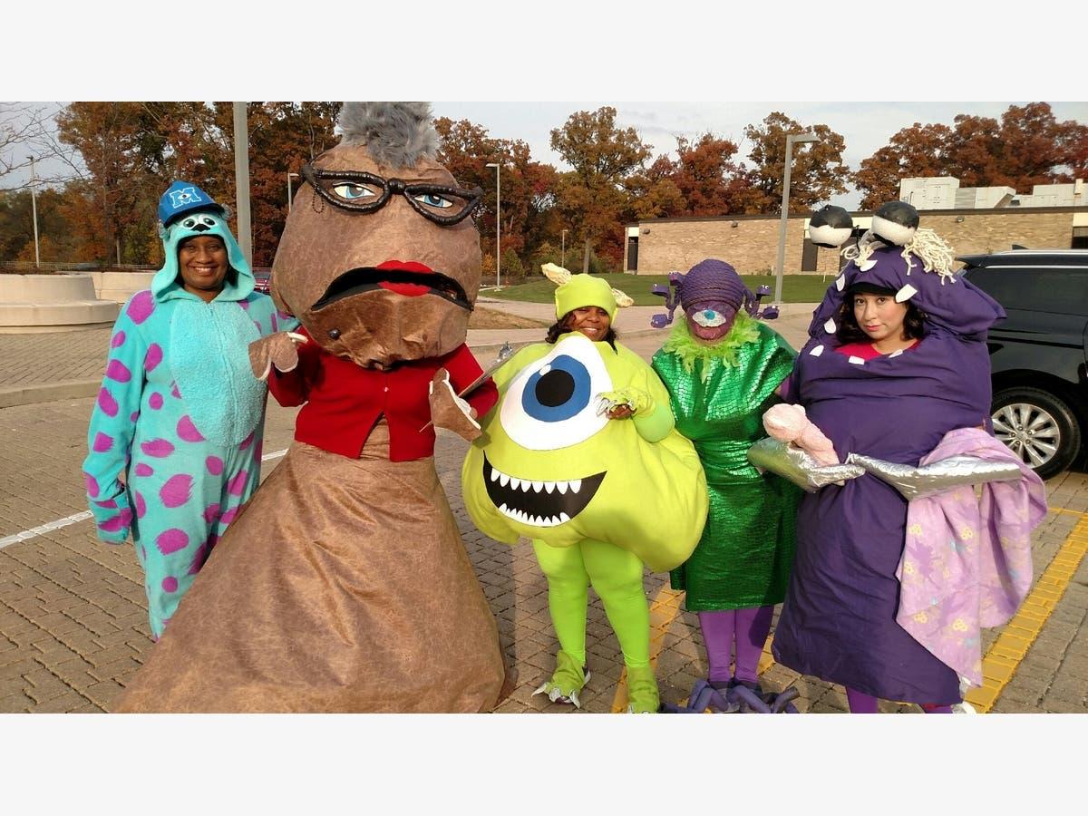 Monster, Inc  Characters Visit Marshall School | Joliet, IL