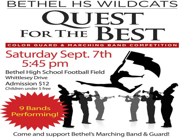 Sep 7 | Quest for the Best - Bethel High School Marching